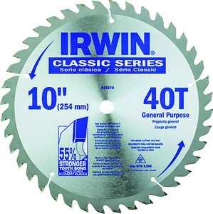 Irwin 0498501 10 in 40tht Blade 5/8 Arbor