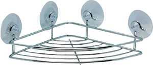 Homebasix 537928 Chrome Corner Shower Shelf