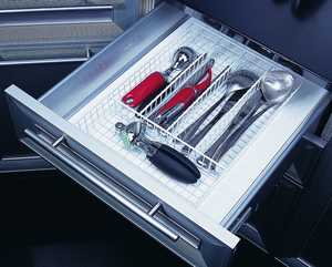 Homebasix 623611 White Silverware Storage Tray