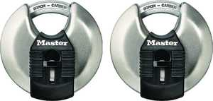 Master Lock M40XT 2-3/4-Inch Disc Padlock 2-Pack