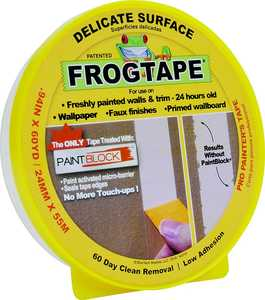 SHURTECH BRANDS, LLC 280220 Frogtape .94-Inch X 60-Yard Delicate Surface Painter's Tape