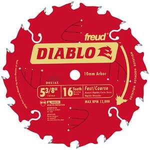 Freud D0516X 5-3/8 Diablo Saw Blade 16tht