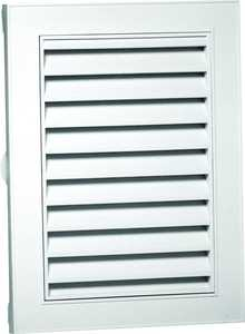Canplas Inc 626075-00 12x18 in White Rect Gable Vent