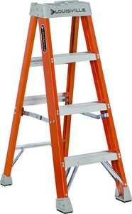 Louisville Ladder FS1504 4 ft Type 1A Fiberglass Step ladder, 300 Lb Rated