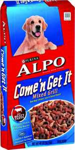 Nestle Purina Pet Care 5000058091 Alpo Come & Get It Mixed Grill Dog Food 40-Pound