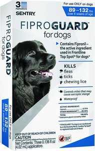 Sergeant's Pet 02953 Flea&tick Dogs 89-132lbs Fip