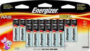 Energizer Battery E91LP-16 Aa Alkaline Battery 16pk