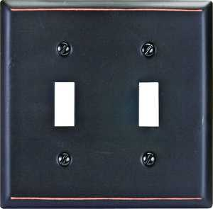 AmerTac 75TTVB Madison Aged Bronze Solid Brass 2-Toggle Wallplate