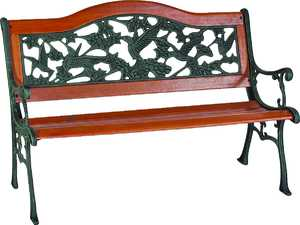 Worldwide Sourcing 3406196 9 Slat Hummingbird Park Bench