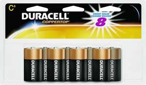 Duracell MN14R8DWZ17 Alkaline Size C-8pk Doublewide