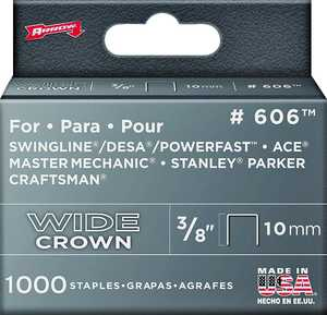 Arrow Fastener Co 60630 3/8-Inch Wide Heavy Duty Staples 1000/Box