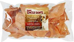 Sergeant's Pet 28702 Pork Chips 3x3 in 16 oz