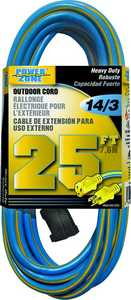 Power Zone ORK506725 Ext Cord 14/3 25 ft Blue/Yellow
