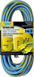 Power Zone ORK506730 Ext Cord 14/3 50 ft Blue/Yellow