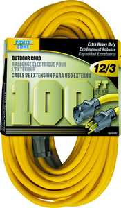 Power Zone OR500835 Ext Cord 12/3 100 ft Yellow