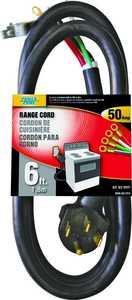Power Zone ORR628206 Range Cord 6/2&8/2 Black 6 ft