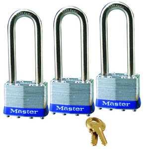 Master Lock 1TRILJ Laminated Padlock 3-Pack