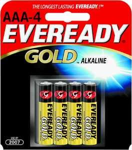Energizer Battery A92BP-4 Eeveready Aaa Alkaline Battery 4pk