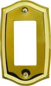 AmerTac 76RBR Sonoma Polished Brass 1-Rocker Wallplate