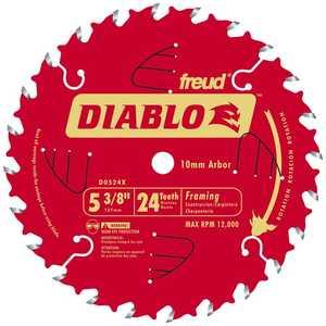 FREUD D0524X 5-3/8 Diablo Saw Blade 24tht