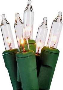 Holiday Basix U10Y082B 100 count Clear Mini Light Set