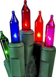 Holiday Basix U10Y082A 100 Count Multi-Color Mini Light Set