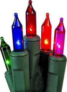 Holiday Basix U12E745C 50 Count String to String Multi-Color Mini LED Light Set