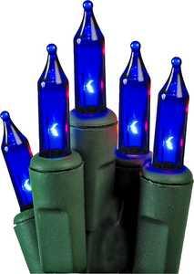 Holiday Basix U10E406E 50 Count String to String Blue Mini LED Light Set