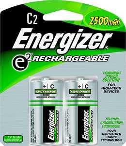 Energizer Battery NH35BP-2 Recharge Nimh C Battery 2pk