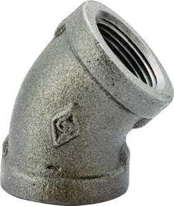 Worldwide Sourcing 4-1/2B 1/2 Black 45° Elbow