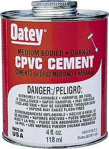 Oatey 31128 4 oz Lovoc Cpvc Orange Cement
