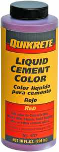 Quikrete 131703 10 oz Red Cement Color