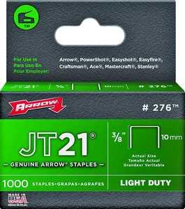 Arrow Fastener Co 276 3/8 in Staples 1000/Box