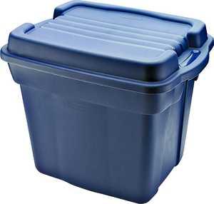 Newell Rubbermaid Home 2450 24-Gallon Dark Blue Plastic High Top Storage Tote