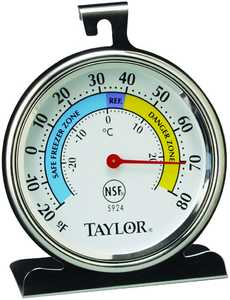 Taylor Precision Products 5924 Refrig/Freezer Thermometer