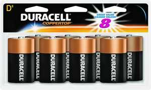 Duracell 4133393364 Alkaline Size D-8pk Doublewide