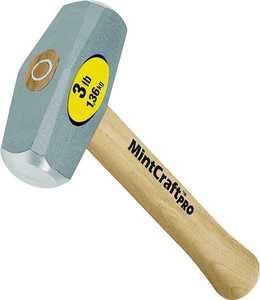 Mintcraft Pro 33705 3lb Drilling Hammer Wood Handle