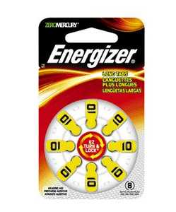 Energizer Battery AZ10DP-8 #10 Hearingaid Battery