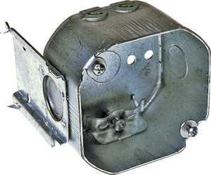 Raco 176 4 in Oct Romex Box W/Bracket