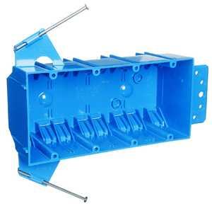 Carlon Sales B455A-UPC 4-Gang Blue Outlet Box