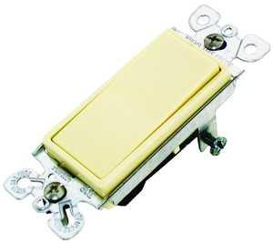 Cooper Wiring 7501V-BOX 1p Ivory Quiet Rocker Switch