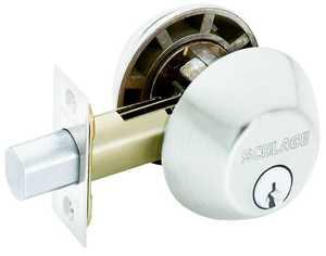 Schlage Lock B62NV 619 2-Cylinder Deadbolt K4 S Nickle
