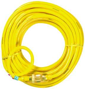 Coleman Cable 2806 10/3x100 ft Yeljkt Extension Cord