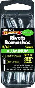 Arrow Fastener Co RMA3/16 3/16 in Aluminum Med Rivet