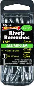 Arrow Fastener Co 6778021 1/8-Inch Aluminum Short Rivet