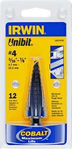 Irwin 10234 3/16 in - 7/8 in Step Drill Bit