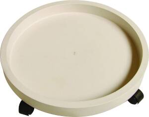 MintCraft GF-3633 Plastic Plant Dolly White 11 in