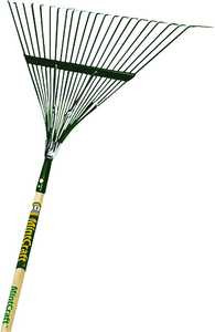 Landscapers Select 33272 22-Tine Steel Rake With 54-Inch Wood Handle