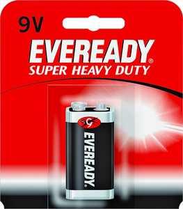 Energizer Battery 1222SW Super Heavy Duty 9v Battery