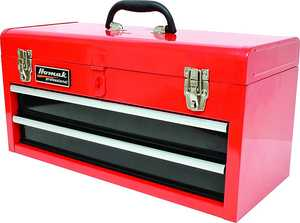 Homak RD01022001 20-Inch 2-Drawer Red Metal Tool Box